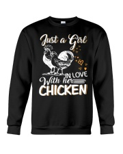 A Girl In Love With Her Chicken Crewneck Sweatshirt thumbnail