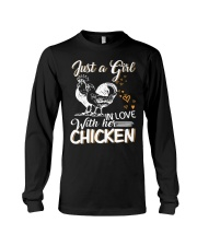 A Girl In Love With Her Chicken Long Sleeve Tee thumbnail