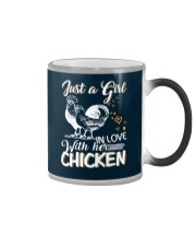 A Girl In Love With Her Chicken Color Changing Mug thumbnail