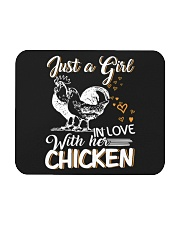 A Girl In Love With Her Chicken Mousepad thumbnail