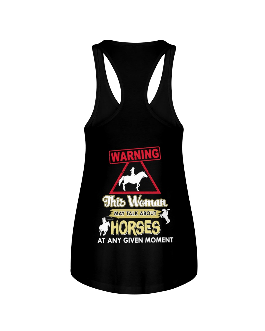 Horse This Woman May Talk About Horses Ladies Flowy Tank