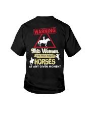 Horse This Woman May Talk About Horses Youth T-Shirt thumbnail