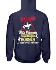 Horse This Woman May Talk About Horses Hooded Sweatshirt thumbnail