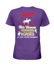Horse This Woman May Talk About Horses Ladies T-Shirt thumbnail
