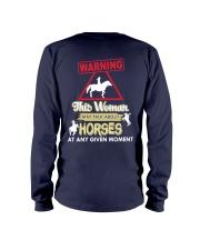Horse This Woman May Talk About Horses Long Sleeve Tee thumbnail