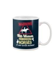 Horse This Woman May Talk About Horses Mug thumbnail