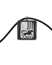 Horse This Woman May Talk About Horses Cord Rectangle Necklace thumbnail