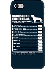 Dachshund Dachshund Nutrition Facts Phone Case thumbnail