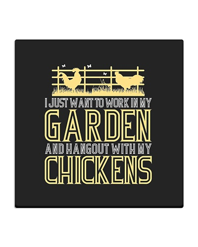 Work In My Garden And Hangout With Chickens