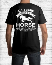 Horse All I Care About Horses Classic T-Shirt lifestyle-mens-crewneck-back-1