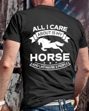 Horse All I Care About Horses Classic T-Shirt lifestyle-mens-crewneck-back-2