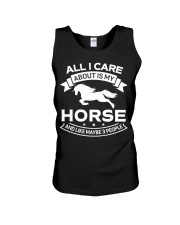 Horse All I Care About Horses Unisex Tank thumbnail