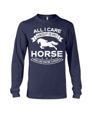 Horse All I Care About Horses Long Sleeve Tee thumbnail