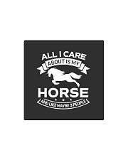 Horse All I Care About Horses Square Magnet thumbnail