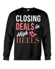 Realtor - Closing Deals In High Heels Crewneck Sweatshirt thumbnail