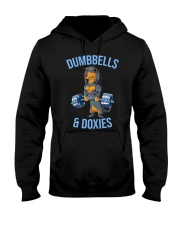 Dumbbells And Doxies Hooded Sweatshirt thumbnail