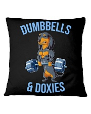 Dumbbells And Doxies Square Pillowcase thumbnail