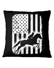 Horse Flag America Square Pillowcase thumbnail