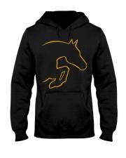 Funny Horse Shirt - Horse Jumping Hooded Sweatshirt thumbnail