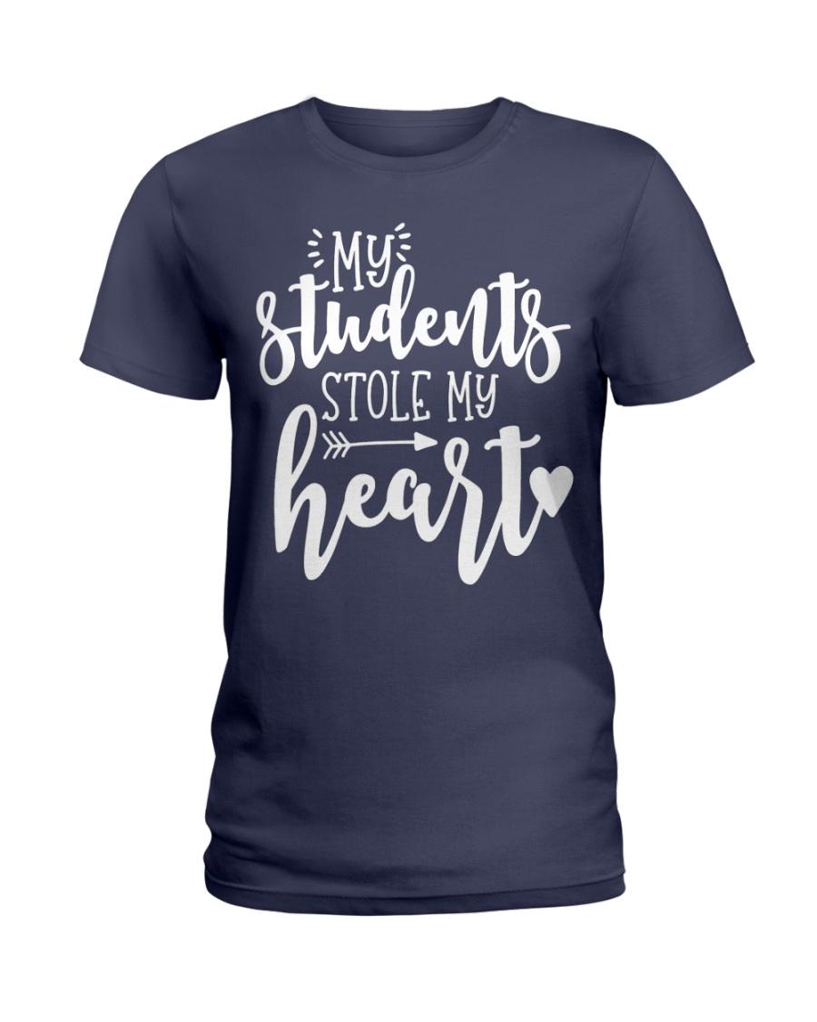 Cute Teacher My Students Stole My Heart Ladies T-Shirt