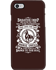 Funny Horse Shirt - Breathe Deep Horses Smell Phone Case tile