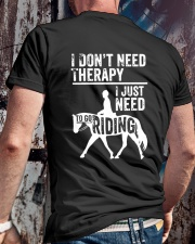 Horse I Just Need To Go Riding Classic T-Shirt lifestyle-mens-crewneck-back-2
