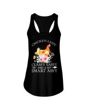 Chicken Lady Classy Sassy Flowers Ladies Flowy Tank thumbnail