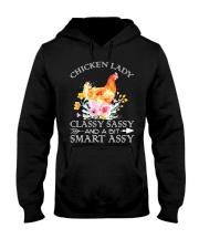 Chicken Lady Classy Sassy Flowers Hooded Sweatshirt thumbnail