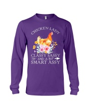 Chicken Lady Classy Sassy Flowers Long Sleeve Tee thumbnail