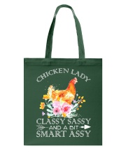 Chicken Lady Classy Sassy Flowers Tote Bag thumbnail
