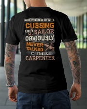 Never Talked To A Carpenter Classic T-Shirt lifestyle-mens-crewneck-back-3