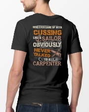 Never Talked To A Carpenter Classic T-Shirt lifestyle-mens-crewneck-back-5