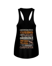Never Talked To A Carpenter Ladies Flowy Tank thumbnail