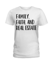 Realtor Realtor Family Faith And Real Estate Ladies T-Shirt tile