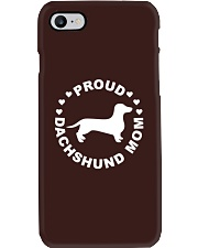 Funny Dog Shirt - Proud Dachshund Mom Phone Case thumbnail