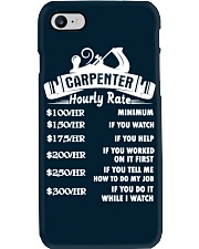 Carpenter Hourly Rate Phone Case thumbnail