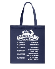 Carpenter Hourly Rate Tote Bag thumbnail