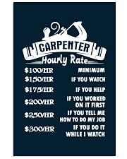 Carpenter Hourly Rate 11x17 Poster thumbnail