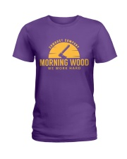 Morning Wood Sawdust Company Ladies T-Shirt tile