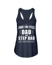 Dad And Step Dad Ladies Flowy Tank thumbnail