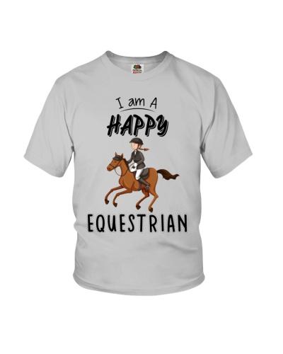 Funny Horse Shirt - I Am A Happy Equestrian
