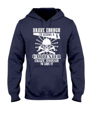 Brave Enough To Become A Carpenter Hooded Sweatshirt thumbnail