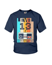 Level 13 Quarantined 13rd Birthday Gamer Youth T-Shirt thumbnail
