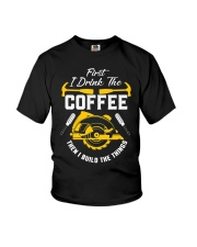 Drink Coffee And Build The Things Youth T-Shirt thumbnail