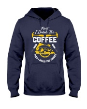 Drink Coffee And Build The Things Hooded Sweatshirt thumbnail