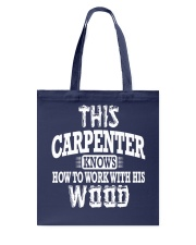 This Carpenter Knows How To Work With This Wood Tote Bag thumbnail