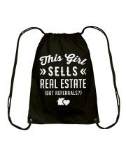 Funny Realtor - This Girl Sells Real Estate Drawstring Bag thumbnail