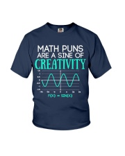 Math Puns Are Sine of Creativity Youth T-Shirt thumbnail
