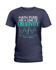 Math Puns Are Sine of Creativity Ladies T-Shirt front