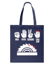 Rock Paper Scissors Table Saw Woodworker Tote Bag thumbnail